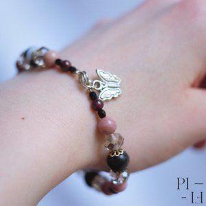 2/60$ bracelet natural aventurine gemstones